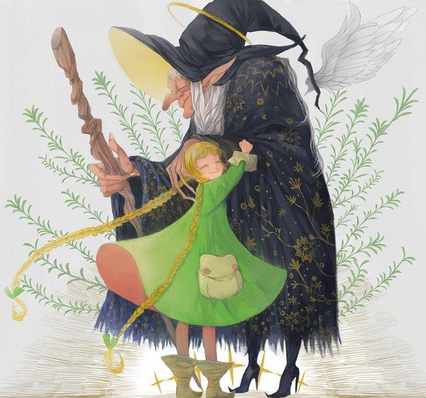 Tags: Anime, Pixiv Id 37799, Granddaughter, Grandmother, Grandmother And Granddaughter, Pixiv, Original