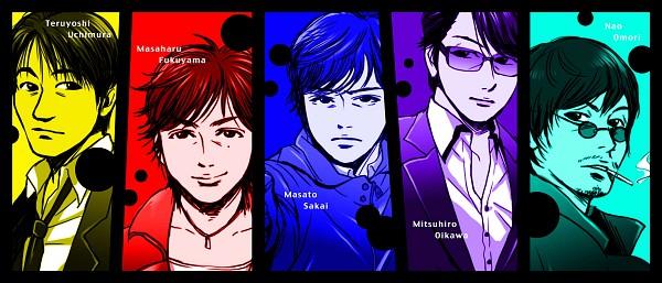 Tags: Anime, Pixiv Id 387554, Joker Yurusarezaru Sosakan, Omori Nao, Date Kazuyoshi, Fukuyama Masaharu, Oikawa Mitsuhiro, Fanart, Pixiv