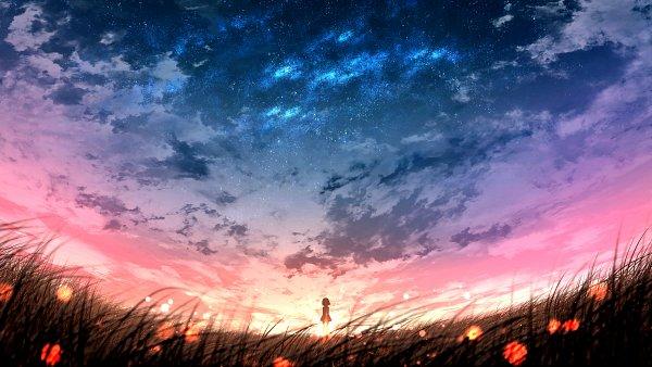 Tags: Anime, Pixiv Id 41736171, Sillouette, Pixiv, Original, 4K Ultra HD Wallpaper, Wallpaper, HD Wallpaper