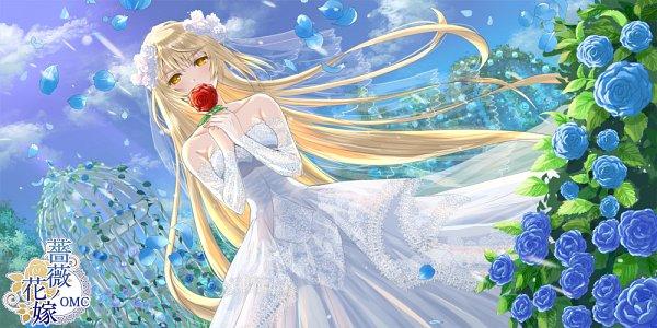 Tags: Anime, Pixiv Id 491510, Rose Bush, Garden, Facebook Cover, Pixiv