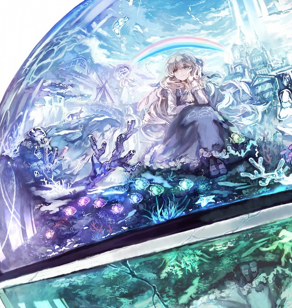 Tags: Anime, Pixiv Id 534010, Starfish, Looking Out Window, Original