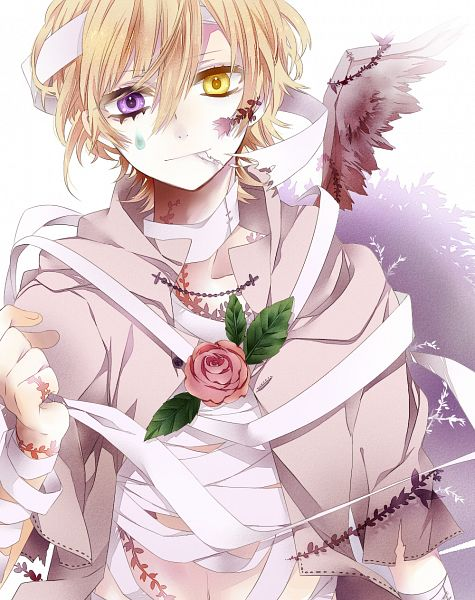 Tags: Anime, Pixiv Id 6901709, One Wing, Bandaged Neck, Bandaged Head, PNG Conversion, Pixiv, Original