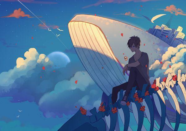 Tags: Anime, Pixiv Id 8066934, Aquatic Animal in the Sky, Pixiv, Original