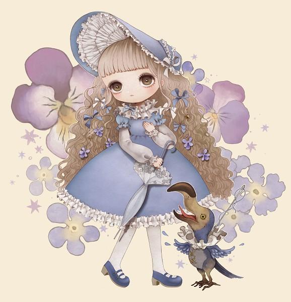 Tags: Anime, Pixiv Id 840046, Dodo (Bird), Closed Umbrella, Pixiv