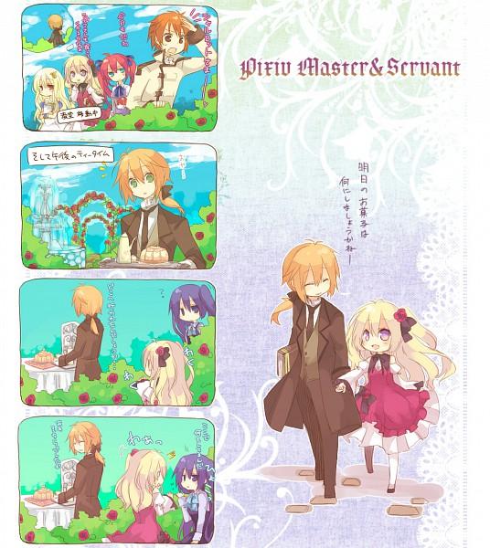 Tags: Anime, Aruya, Pixiv Master and Servant, Fountain, Original, Pixiv, Comic