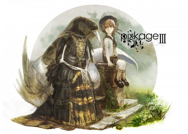 Tags: Anime, Chibi (Shimon), Pixkage, Pixiv Shadow, Original, Pixiv