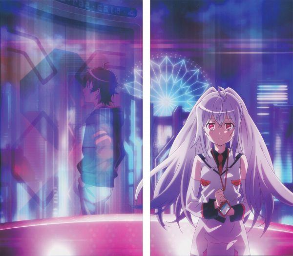 Tags: Anime, Nakajima Chiaki, Dogakobo, Plastic Memories, Isla (Plastic Memories), Mizugaki Tsukasa, Scan, DVD (Source), Official Art