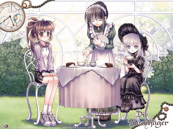 Tags: Anime, Plastic Moon, Tea Party, Pixiv, Wallpaper