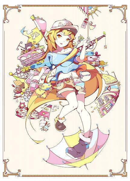 Tags: Anime, Pixiv Id 25448695, Hataraku Saibou, Platelet, Pizza, Fanart From Pixiv, Pixiv, Fanart