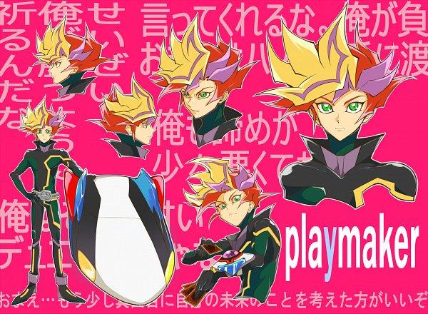 Tags: Anime, Pixiv Id 2043397, Yu-Gi-Oh! VRAINS, Yu-Gi-Oh!, Playmaker, Fujiki Yuusaku, Skating, D-Board, Hoverboard, Fanart From Pixiv, Fanart, Pixiv, Character Sheet