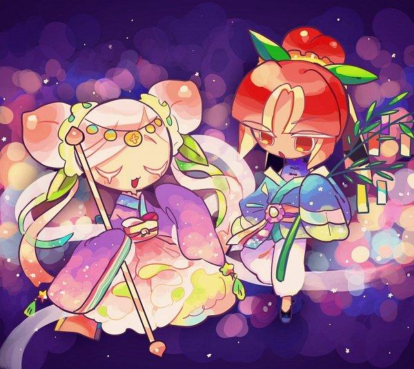 Tags: Anime, Pixiv Id 17492718, Cookie Run: OvenBreak, Cookie Run, Peach Cookie, Plum Cookie, Fanart From Pixiv, Pixiv, Fanart, PlumPeach