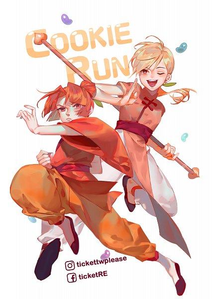 Tags: Anime, LengYou, Cookie Run: OvenBreak, Cookie Run, Plum Cookie, Peach Cookie, Orange Pants, Jelly Beans, Fanart, Fanart From DeviantART, deviantART, PlumPeach