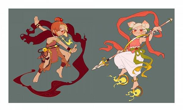 Tags: Anime, Lcf2288, Cookie Run: OvenBreak, Cookie Run, Peach Cookie, Plum Cookie, Twitter, Fanart, PlumPeach