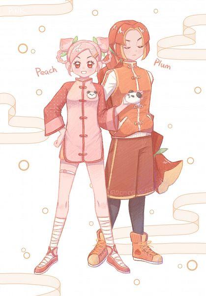Tags: Anime, Pixiv Id 1802302, Cookie Run: OvenBreak, Cookie Run, Peach Cookie, Plum Cookie, Orange Footwear, Fanart, Fanart From Pixiv, Pixiv, PlumPeach