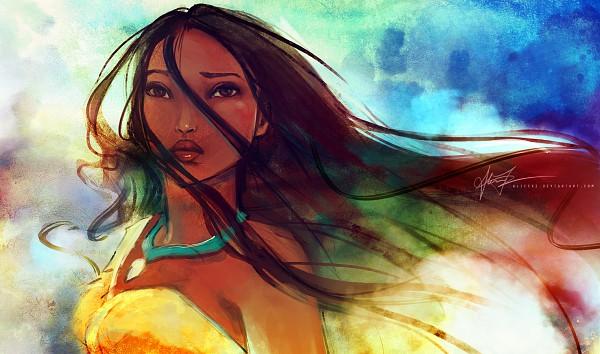 Tags: Anime, Alice X. Zhang, Pocahontas, Pocahontas (Character), Watercolor, deviantART, Disney, Traditional Media, Fanart