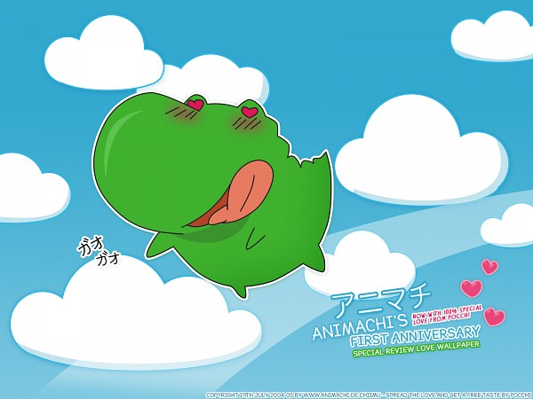 Tags: Anime, Kore ga Watashi no Goshujin-sama, Pochi, Crocodile (Animal), Wallpaper, Official Art