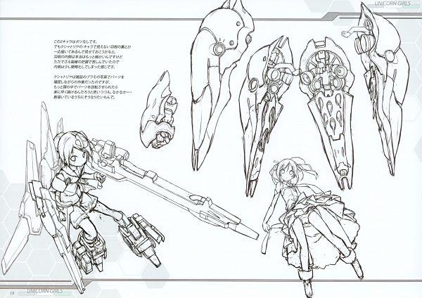 Tags: Anime, Poco, Unicorn Girls, Pixiv, Line Art, Original