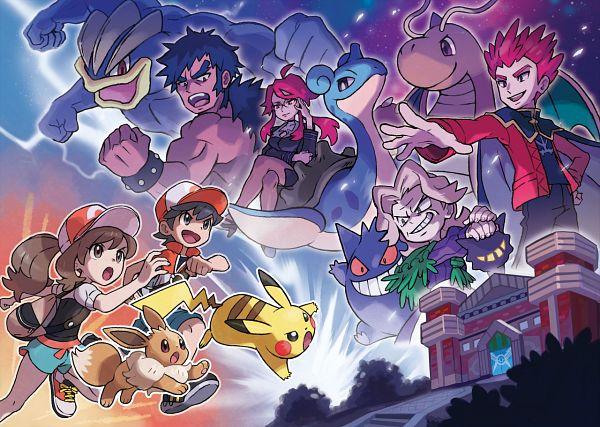 Tags: Anime, Pokémon: Let's Go Pikachu! & Let's Go Eevee!, Pokémon Red & Green, Pokémon, Machamp, Gengar, Shiba (Pokémon), Lapras, Eevee, Kanna (Pokémon), Wataru (Pokémon), Kakeru (Pokémon: Let's Go Pikachu! & Let's Go Eevee!), Pikachu