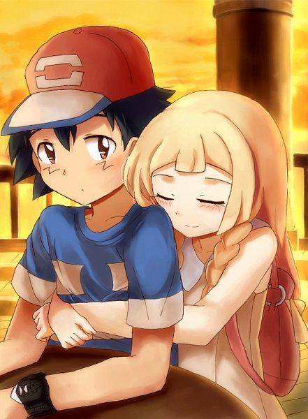 Tags: Anime, Kuriyama (Artist), Pokémon (Anime), Pokémon, Lillie (Pokémon), Satoshi (Pokémon)
