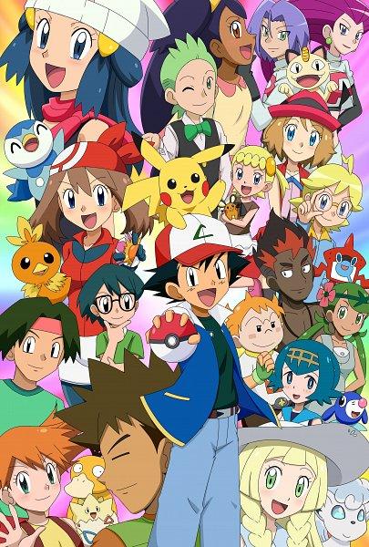 Tags: Anime, Pokémon (Anime), Pokémon, Hikari (Pokémon), Torchic, Mao (Pokémon), Takeshi (Pokémon), Masato (Pokémon), Vulpix, Suiren (Pokémon), Satoshi (Pokémon), Haruka (Pokémon), Lillie (Pokémon)
