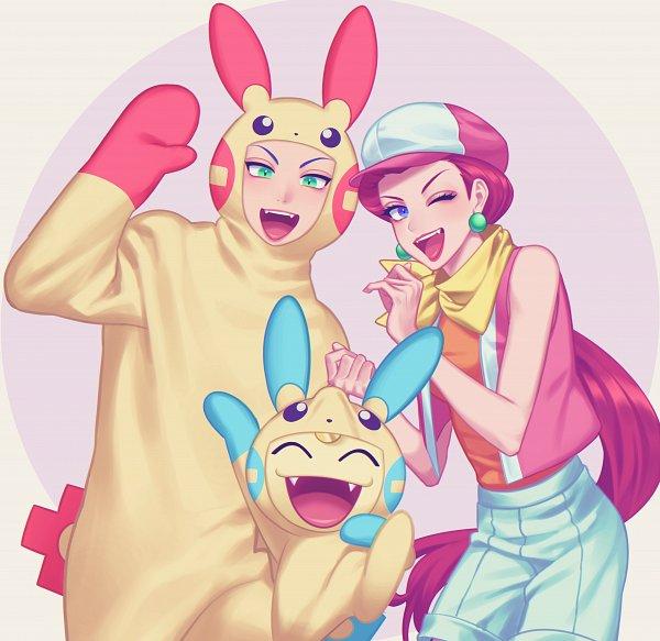 Tags: Anime, Pixiv Id 26263085, Pokémon (Anime), Pokémon, Kojirou (Pokémon), Musashi (Pokémon), Meowth, Minun (Cosplay), Plusle (Cosplay), Team Rocket