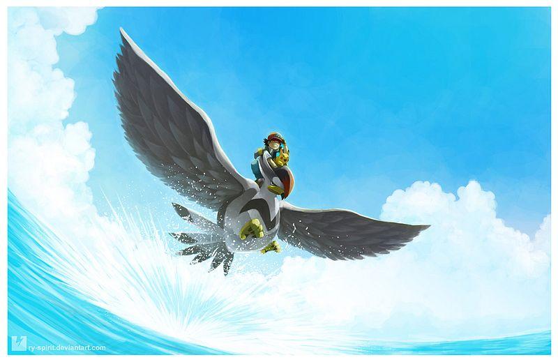 Tags: Anime, Ry-Spirit, Pokémon (Anime), Pokémon Red & Green, Pokémon Diamond & Pearl, Pokémon, Satoshi (Pokémon), Pikachu, Staraptor, Splash, Fanart, deviantART, Fanart From DeviantART