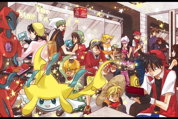 Tags: Anime, Pixiv Id 130774, Pokémon SPECIAL, Pokémon, Emerald (Pokémon SPECIAL), Silver (Pokémon), Haruka (Pokémon), Jirachi, Kotone (Pokémon), Hikari (Pokémon), Green (Pokémon), Hibiki (Pokémon), Leaf (Pokémon)