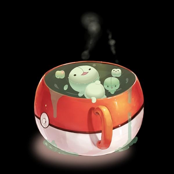 Tags: Anime, Pixiv Id 260451, Pokémon, Duosion, Reuniclus, Solosis, Pokéball Mug, Swimming