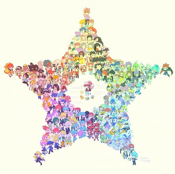 Tags: Anime, Kokoroko, Pokémon, Katsura (Pokémon), Haruka (Pokémon), Green (Pokémon), N (Pokémon), Meowth, Kamitsure, Hibiki (Pokémon), Musashi (Pokémon), Lance (Pokémon), Hikari (Pokémon)