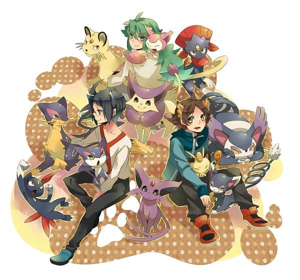Tags: Anime, Satsuki Sora, Pokémon, Meowth, Delcatty, Cheren (Pokémon), N (Pokémon), Touya (Pokémon), Espeon, Persian, Pixiv