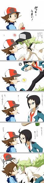 Tags: Anime, Pixiv Id 2501329, Pokémon, Touya (Pokémon), Cheren (Pokémon), N (Pokémon), Comic