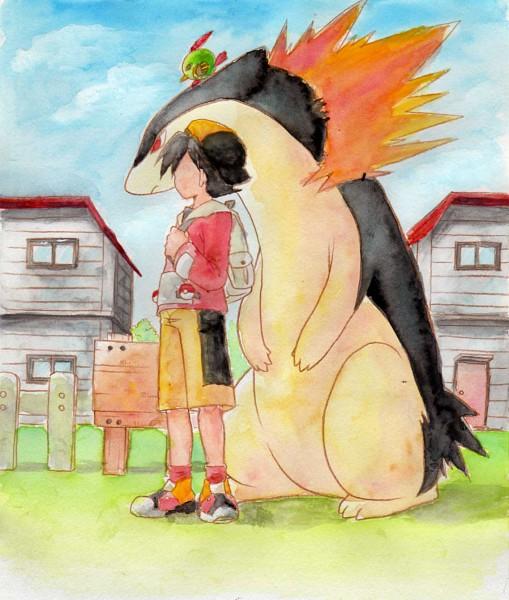 Tags: Anime, Nagi (Pixiv Id 314655), Pokémon, Natu, Typhlosion, Hibiki (Pokémon), Fanart, Pixiv