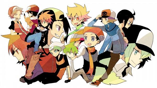 Tags: Anime, Pokémon, Jun (Pokémon), Hibiki (Pokémon), Mitsuru (Pokémon), Kouki (Pokémon), Pikachu, Cheren (Pokémon), Green (Pokémon), N (Pokémon), Red (Pokémon), Yuuki (Pokémon), Silver (Pokémon)