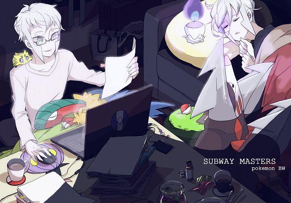Tags: Anime, Fujichica, Pokémon, Kudari, Archeops, Excadrill, Joltik, Nobori, Litwick, Stack Of Books, Mouse (Computer), Pixiv, Fanart