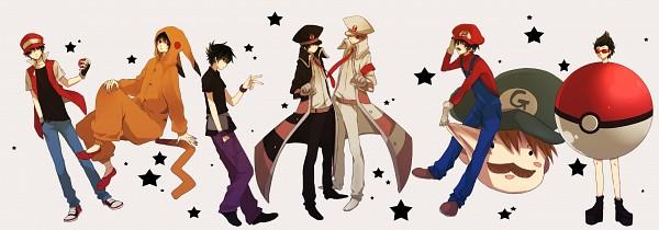 Tags: Anime, Mochigon, Pokémon, Fire (Pokémon), Green (Pokémon), Red (Pokémon), Kigurumi, Kudari (Cosplay), Pokémon (Cosplay), Luigi (Cosplay), Green (Pokémon) (Cosplay), Subway Masters (Cosplay), Mario (Cosplay)