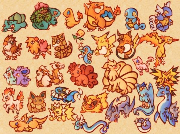 Tags: Anime, Pixiv Id 77750, Pokémon, Dragonair, Moltres, Nidoran, Squirtle, Raichu, Wartortle, Vaporeon, Pidgey, Dragonite, Bellsprout