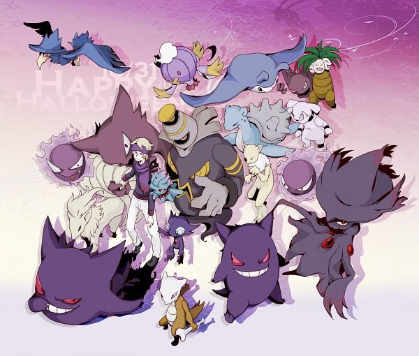 Tags: Anime, Pixiv Id 618164, Pokémon, Matsuba (Pokémon), Exeggutor, Lapras, Misdreavus, Haunter, Granbull, Mismagius, Gengar, Dusknoir, Marowak