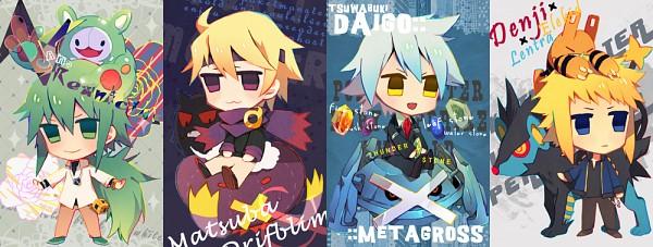 Tags: Anime, Damil, Pokémon, Drifblim, Metagross, Denji (Pokémon), Tsuwabuki Daigo, Matsuba (Pokémon), N (Pokémon), Gengar, Elekid, Luxray, Reuniclus