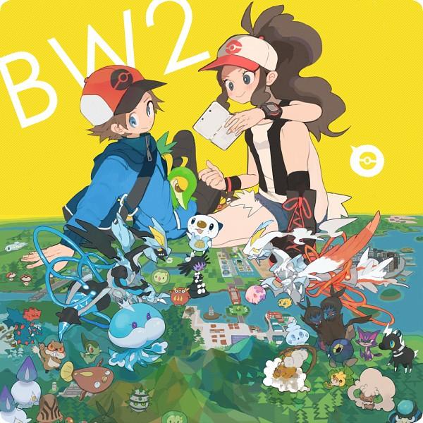 Tags: Anime, Pixiv Id 36582, Pokémon, Zekrom, Darumaka, Ferroseed, Black Kyurem, Axew, Sewaddle, Beheeyem, Reshiram, Joltik, Jellicent