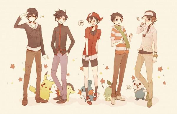 Tags: Anime, Kanoko33, Pokémon, Green (Pokémon), Pikachu, N (Pokémon), Red (Pokémon), Turtwig, Hibiki (Pokémon), Touya (Pokémon), Yuuki (Pokémon), Cyndaquil, Oshawott
