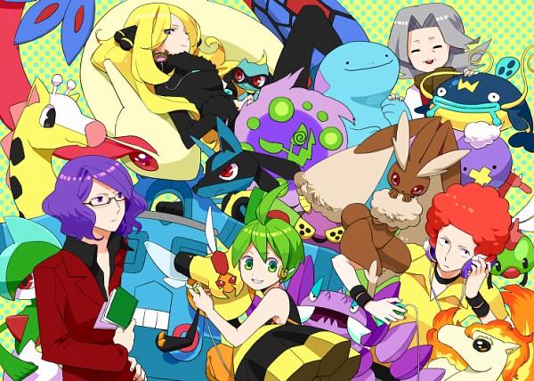 Tags: Anime, Gumidemo Kandero, Pokémon, Lopunny, Shirona (Pokémon), Ponyta, Whiscash, Lucario, Drapion, Girafarig, Vespiquen, Ryou (Pokémon), Gallade