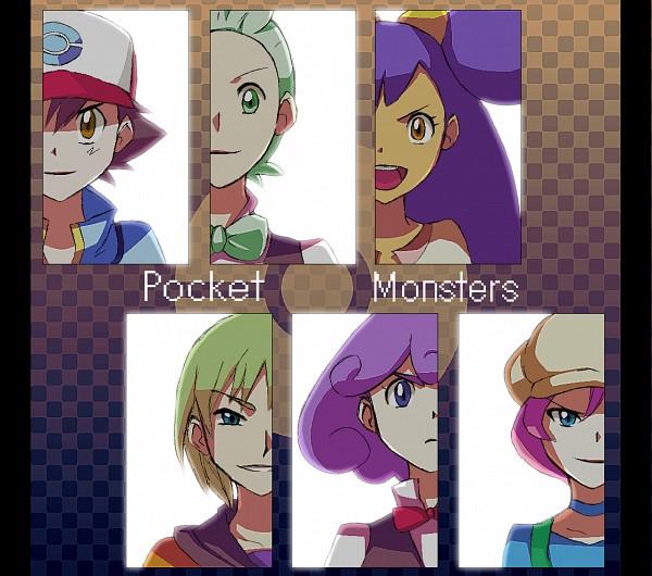 Tags: Anime, Pixiv Id 1137017, Pokémon, Satoshi (Pokémon), Shooti (Pokémon), Iris (Pokémon), Langley (Pokémon), Dento (Pokémon), Cabernet (Pokémon), Pixiv, Fanart From Pixiv, Fanart