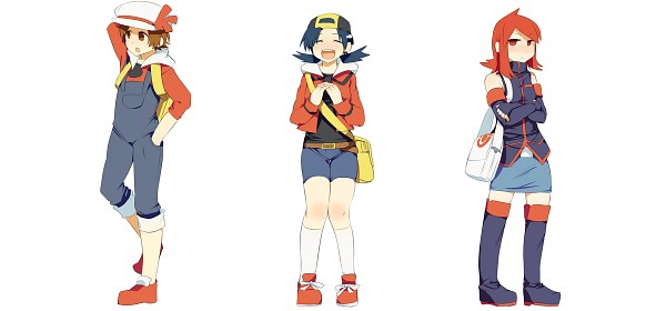 Tags: Anime, Noe Yuuhi, Pokémon, Silver (Pokémon), Kotone (Pokémon), Hibiki (Pokémon), Fanart, Facebook Cover, Fanart From Pixiv, Pixiv