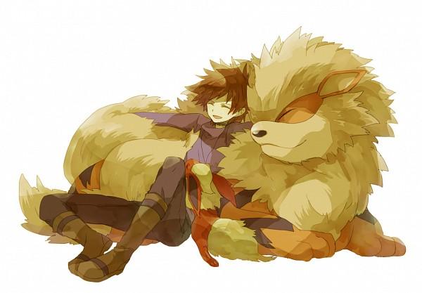 Tags: Anime, Hana / ハナ, Pokémon, Arcanine, Green (Pokémon), Flareon