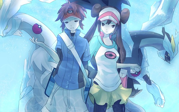 Tags: Anime, Pixiv Id 3274928, Pokémon, Kyouhei, White Kyurem, Zekrom, Black Kyurem, Reshiram, Kyurem, Mei (Pokémon), Legendary Pokémon