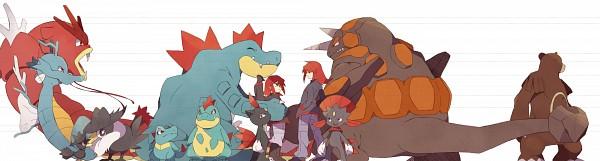 Tags: Anime, Otoufu (Nenne), Pokémon SPECIAL, Pokémon, Croconaw, Silver (Pokémon SPECIAL), Rhyperior, Feraligatr, Sneasel, Kingdra, Murkrow, Gyarados, Honchkrow