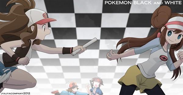 Tags: Anime, Pixiv Id 1787752, Pokémon, Mei (Pokémon), Touya (Pokémon), Kyouhei, Touko (Pokémon), Yellow Skirt, Fanart, Facebook Cover