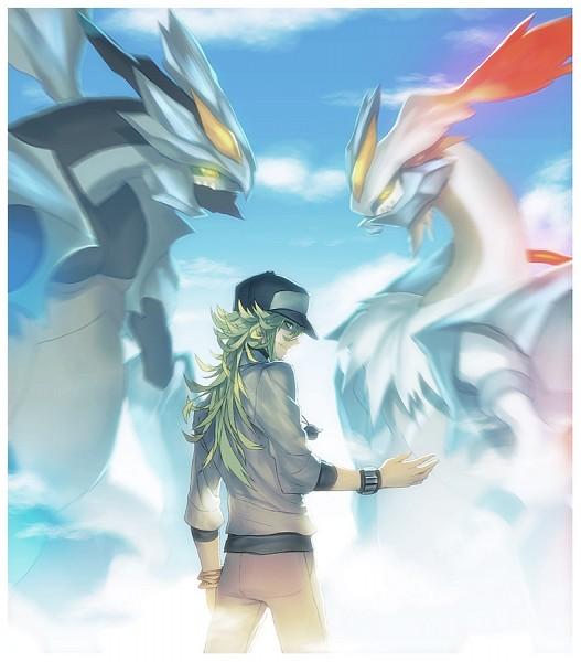 Tags: Anime, Kitunen, Pokémon, N (Pokémon), Zekrom, Kyurem, Reshiram, White Kyurem, Black Kyurem, Character Fusion, Legendary Pokémon