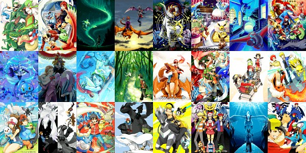 Tags: Anime, Pixiv Id 1309807, Pokémon, Denji (Pokémon), Chimchar, Kamitsure, Silver (Pokémon), Yuuki (Pokémon), Minaki (Pokémon), Haruka (Pokémon), Green (Pokémon), Arceus, Masato (Pokémon)