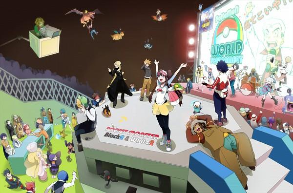 Tags: Anime, Pixiv Id 327123, Pokémon Black & White, Black and White 2, Pokémon, Snivy, Erika (Pokémon), Fuuro, Renbu, Pikachu, Hue, Dento (Pokémon), Kudari